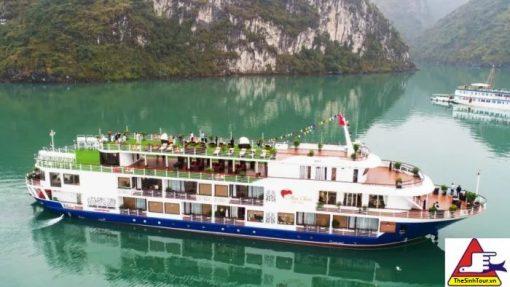 tour du lịch Mon Cheri Cruise Hạ Long 2 ngày 1 đêm du thuyền 5 sao giá tốt